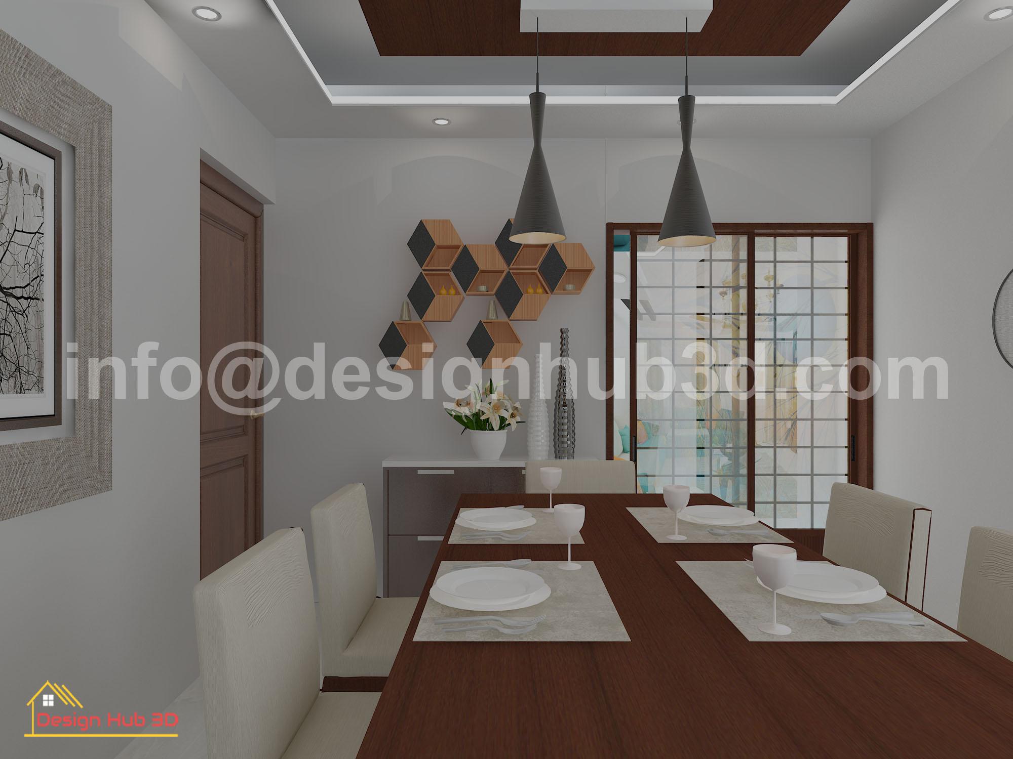 DesignHub 3D-Dining room interior, Dining Interior, Dining Decoration, Interior Design