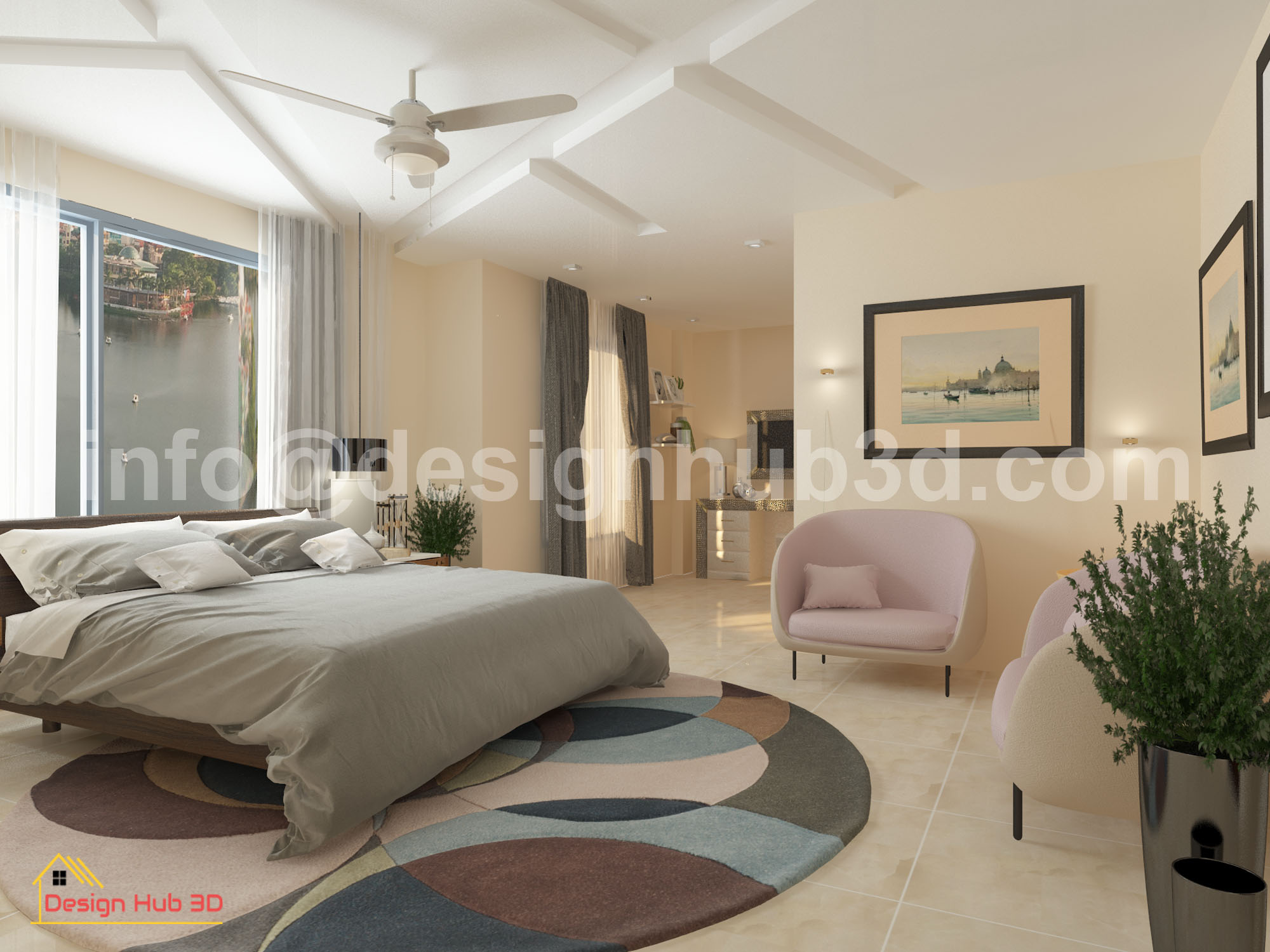 Design Hub 3D - Master Bed interior